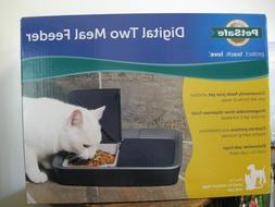 New! PetSafe Digital Two Meal Feeder Small to Medium Dogs &