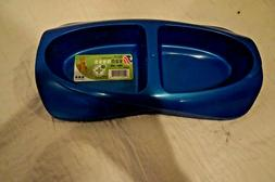 NEW  VAN NESS DOG CAT DOUBLE FEEDER BOWL PLASTIC  BLUE