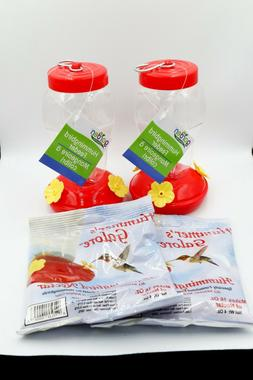 new two hanging hummingbird safe plastic feeders