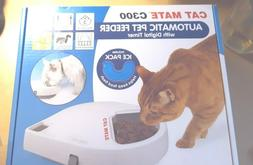 NIB Cat Mate C300 Automatic 3 Meal Pet Feeder with Digital T