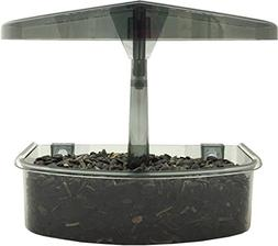 Droll Yankees Observer Window Bird Feeder .5 Lb Cap Smoke Gr