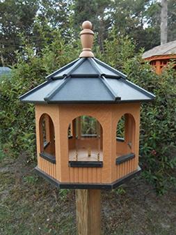 Large Octagon Gazebo Vinyl Bird Feeder Amish Homemade Handma
