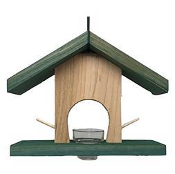 Oriole Wild Bird Feeder. Cedar Wood Bird House Feeder for Or