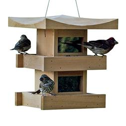 Naturalyards Pagoda Bird Feeder 2-Level, Cedar
