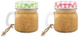 Esschert Design Peanut Butter Filled Mason Jar for Wild Bird