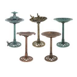 Pedestal Bird Bath Style Antique Bird Bath Feeder Outdoor Ga
