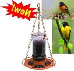 Perky-Pet 253 Oriole Grape Jelly Wild Bird Feeder Jar hummin