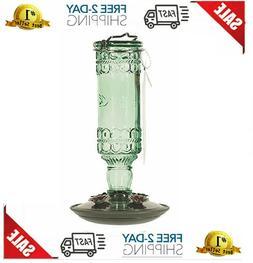 Perky-Pet 8108-2 Green Antique Bottle 10-Ounce Glass Humming