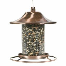 Perky-Pet Panorama Bird Feeder Clear Shatter Resistant Red C