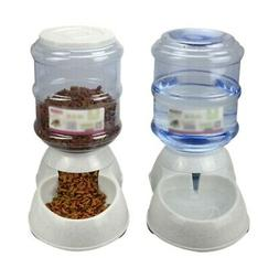Large Gravity Pet Feeder Cats Dog Kitten Dry Food Bowl Autom