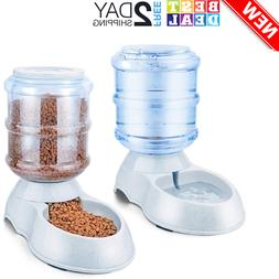 Pet Dog Cat Feeder Automatic Refills Spill-Free Cat and Dog