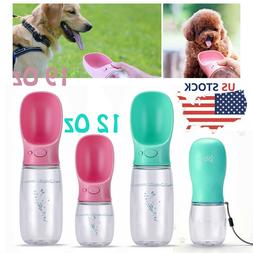 Pet Dog Cat Puppy Water Bottle Dispenser Travel Feeder Tray