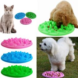 Pet Dog Cat Slow Eating Feeder Bowl Puppy Plastic Feed Bloat