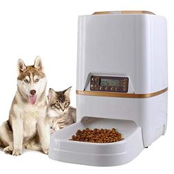 Sailnovo 6L Pet Feeder Food Dispenser 4 Meal for Pet Cat Aut