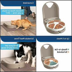 PETSAFE 5 Meal Pet Feeder for Dogs and Cats - Food Dispenser