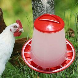 Plastic Automatic Bucket Bird Quail Food Drink Water Chicken