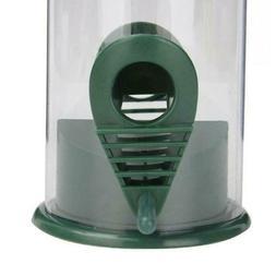 Plastic Bird Feeder Bird Water Dish Outdoor Feeder Dark Gree