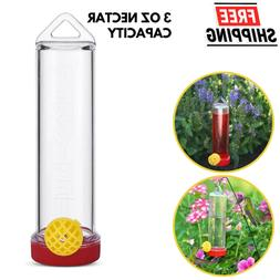 Plastic Hummingbird Feeder With Hanging Rod And Bee Guard 3