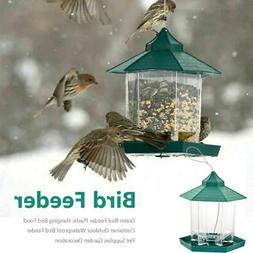 plastic waterproof hanging wild bird feeder feeding