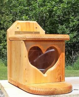 Pop Up heart, square, tree or fence mount squirrel feeder, c