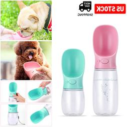 Portable Pet Cat Dog Water Bottle Dispenser Travel Feeder Tr