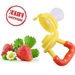 Portable Silicone Bottle For Baby Fruit Mesh Food Nipple Fee