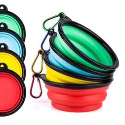 Portable Travel Collapsible Foldable Pet Dog Bowl for Cat Fo