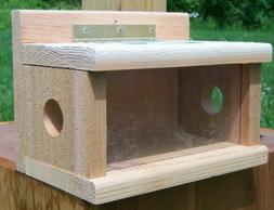 Songbird Essentials Post Mount Bluebird Feeder