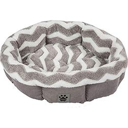 Precision Pet by Petmate SnooZZy Zig Zag Shearling Round Pet