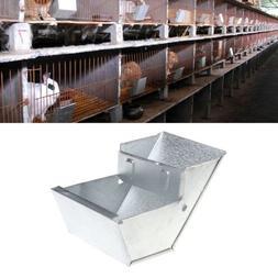 Rabbit Hutch Trough Feeder Drinker Bowl For Rabbit Farming A
