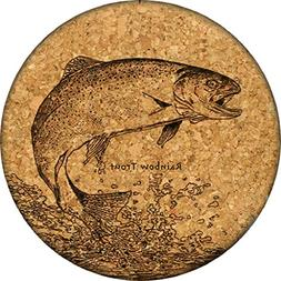 Rainbow Trout Cork Coaster