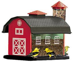 Red Barn Combo Bird Feeder, 7-Lb.
