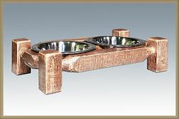 Rustic Dog Feeders Small Raised for Smaller Dogs Farmhouse S