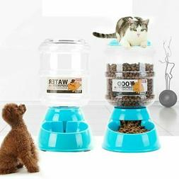 Automatic Pet Feeder Drinking Large Capacity Dog Bowl Dish W