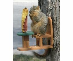 Songbird Essentials Recycled Poly Squirrel Feeder Table & Ch