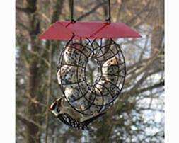 Songbird Essentials SE908 Suet & Seed Ball Feeder Red Roof