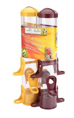Belle Fleur Seed And Thistle Feeder Set with Six Feeding Por
