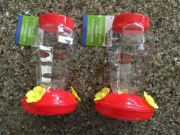 set of 2 plastic hanging hummingbird feeder