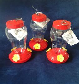 Set of Three Garden Collection Hummingbird Feeders Plastic