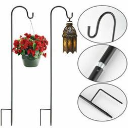 2PC Shepherd Crook Hook Lanterns Bird Feeder Flower Pot Plan