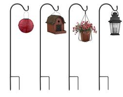 Sorbus® Shepherd's Hooks - Extendable Garden Planter Stakes