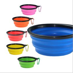 Silicone Pet Travel Bowl for Dog Cat Feeding Water Dish Feed