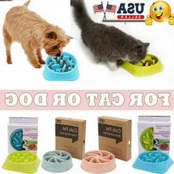 Dog Cat Slow Feed Interactive Bloat Stop Wave Bowl Eating Fo