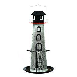 No/No Solar Lighthouse Finch Bird Feeder