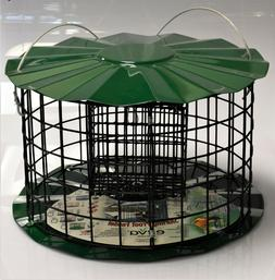 Large Squirrel Proof Bird Feeder - Fits 2 Suet Cakes To Attr