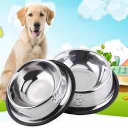 Stainless Steel Pet Feeder Choke Dog Bowl Puppy Cat Slow Dow