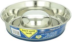 Our Pets Stainless Steel Slow Feed Dog Bowl Asst Sizes