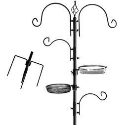Stand Pole Hook Hanger Bird Feeder Kit Accessories For Outsi