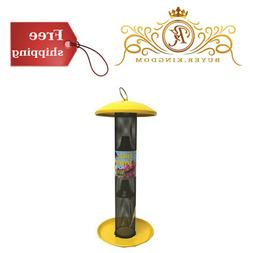 Straight Sided Finch Feeder Yellow For 1.5 Lb Thistle Seed D