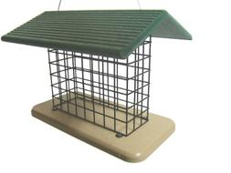 Birds Choice Suet & Seed Block Cage Feeder with Base and Roo